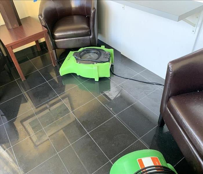 Commercial property repaired with Servpro equipment